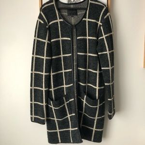 Sanctuary Plaid Long Cardigan
